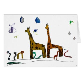 Noahs djur hälsningskort