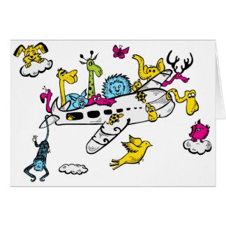 Noahs flygplan hälsningskort