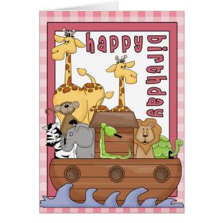 Noahs kort för grattis på födelsedagen för flicka