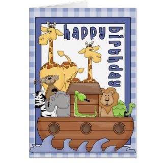 Noahs kort för grattis på födelsedagen för pojke