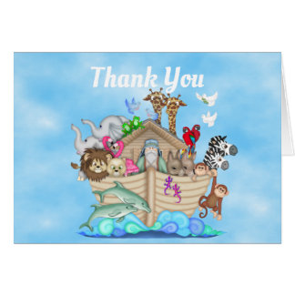 Noahs kort för tack för arkbaby shower