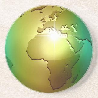 Nobelt världsjordklot - sandstenkustfartyg underlägg