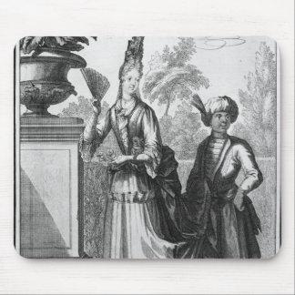 Noblewomans klänning, sent 17th århundrade musmatta