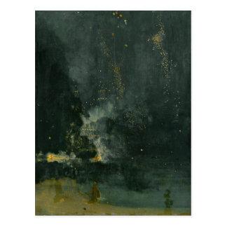 Nocturne i svarten och guld, det fallande raket vykort
