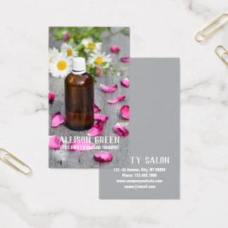 Nödvändig olje- Aromatherapy för massageterapiro Visitkort