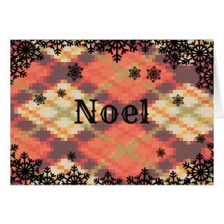 Noel julkort med snowflakegränsen hälsningskort
