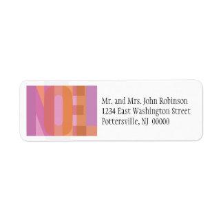 Noel Returadress Etikett