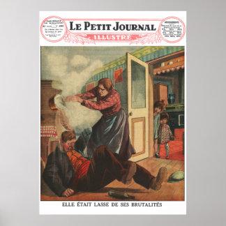 Nog! - 1930 franska tidningstryck poster
