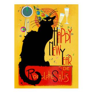 Noir gott nytt år för chatta vykort