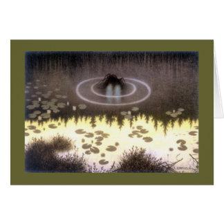 Nokken mytisk vattenälva hälsningskort