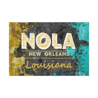 NOLA Louisiana guld, grått, turkos Canvastryck