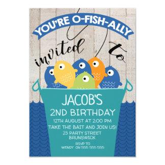 Nolla-Fisk-bundsförvant inbjuden pojke inbjudan