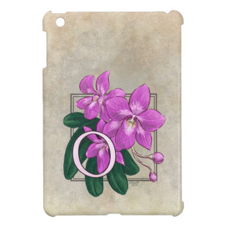 Nolla för OrchidsblommaMonogram iPad Mini Mobil Skal