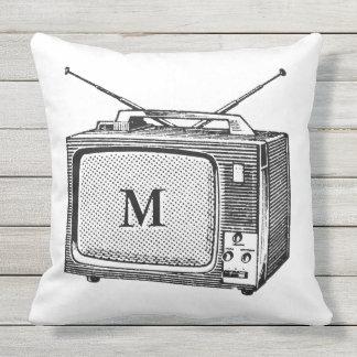 Nollan för Monogram för Televisor Kudde