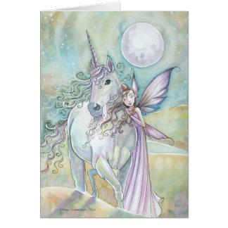 Nomads av det felika Unicornkortet för Mystic Hälsningskort