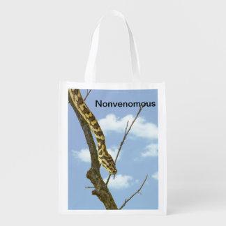 """""""Nonvenomous"""" Garterorm mot en blå himmel Återanvändbar Påse"""