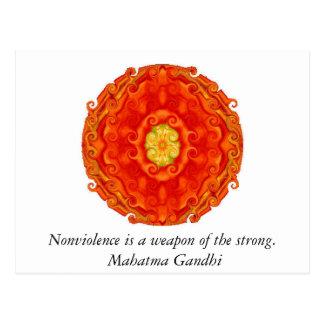 Nonviolencen är ett vapen av det starkt. - Gandhi Vykort