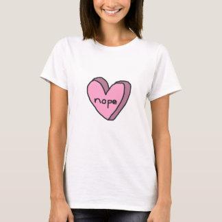 Nope hjärtaskjorta tröja