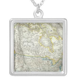 Nord Amerika - Nordamerika Halsband Med Fyrkantigt Hängsmycke