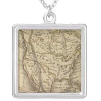 Nordamerika 10 silverpläterat halsband