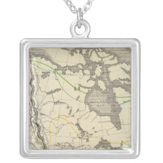 Nordamerika 11 halsband med fyrkantigt hängsmycke