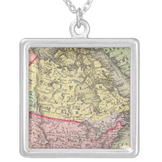 Nordamerika 18 halsband med fyrkantigt hängsmycke