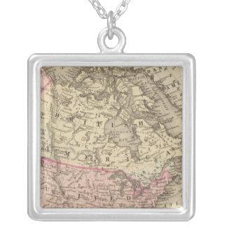 Nordamerika 19 halsband med fyrkantigt hängsmycke