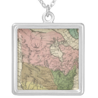 Nordamerika 21 halsband med fyrkantigt hängsmycke