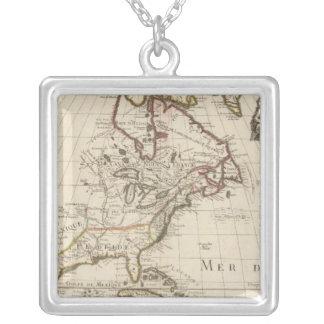 Nordamerika 2 halsband med fyrkantigt hängsmycke