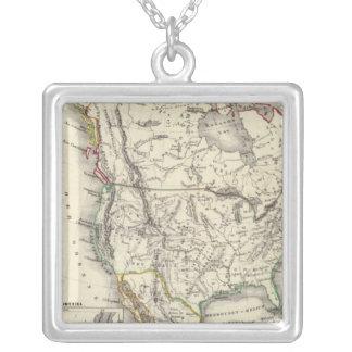 Nordamerika 41 halsband med fyrkantigt hängsmycke