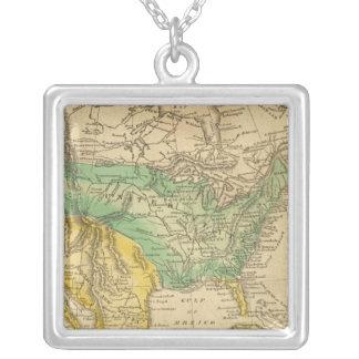 Nordamerika karta vid Worcester Silverpläterat Halsband