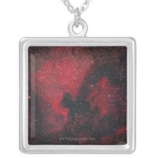 Nordamerika Nebula och pelikanNebula 2 Halsband Med Fyrkantigt Hängsmycke