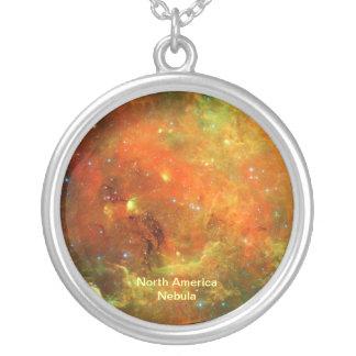 Nordamerika Nebula Silverpläterat Halsband