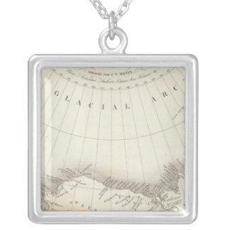 Nordamerika uncolored karta halsband med fyrkantigt hängsmycke