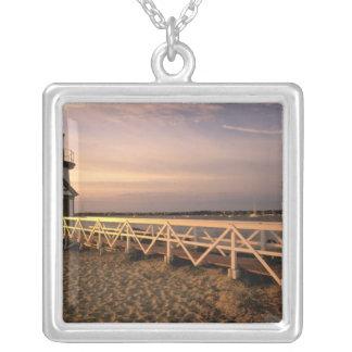 Nordamerika USA, Massachusetts, Nantucket 3 Halsband Med Fyrkantigt Hängsmycke