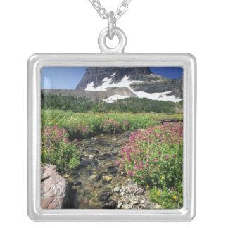 Nordamerika USA, Montana, glaciärmedborgare 3 Halsband Med Fyrkantigt Hängsmycke