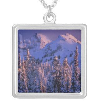 Nordamerika USA, Washington, Mount Rainier 4 Silverpläterat Halsband