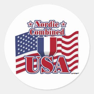 Nordbo kombinerade USA Runt Klistermärke