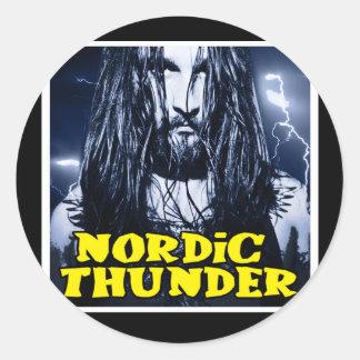 Nordisk åska runt klistermärke