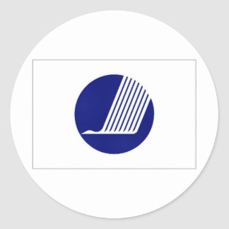 Nordisk rådflagga runt klistermärke