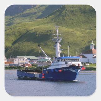 Nordisk sjöman, krabbafartyg i den holländska fyrkantigt klistermärke