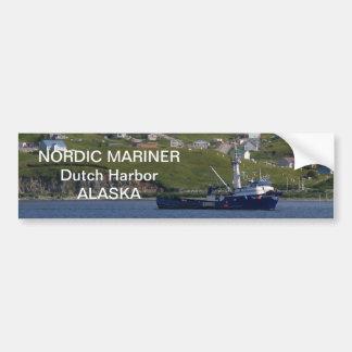 Nordisk sjöman, krabbafartyg i den holländska hamn bildekal