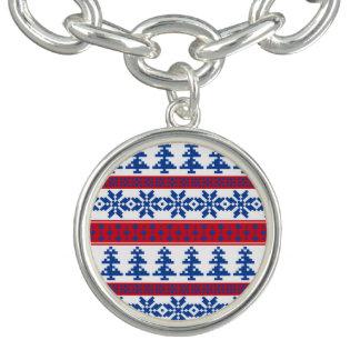 Nordiska julgranar berlockarmband