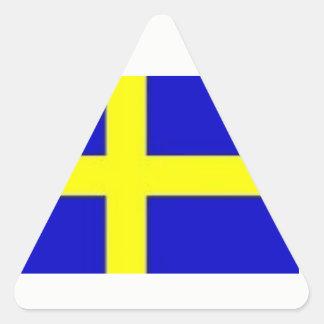 Nordiska rådsvenskklistermärkear triangelformat klistermärke