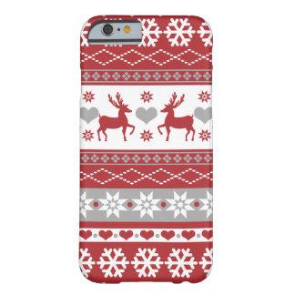 Nordiskt fodral för jultröjatelefon barely there iPhone 6 fodral