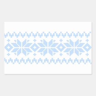 Nordiskt jultröjamönster rektangulärt klistermärke