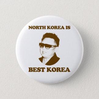 Nordkorea är bäst Korea Standard Knapp Rund 5.7 Cm