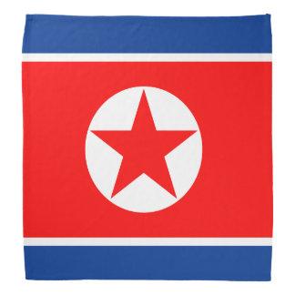 Nordkorea flagga bandana