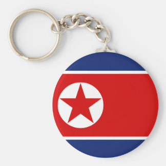 Nordkorea flagga Keychain Rund Nyckelring