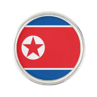 Nordkorea flagga rockslagsnål